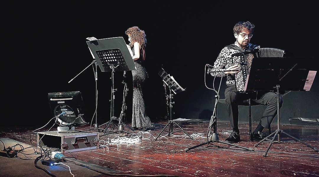 Samuele telari e alice cortegiani,duo essentia, in concerto a tor bella monaca per nuova consonanza
