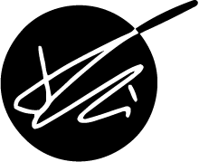 Logo samuele telari firma su cerchio nero