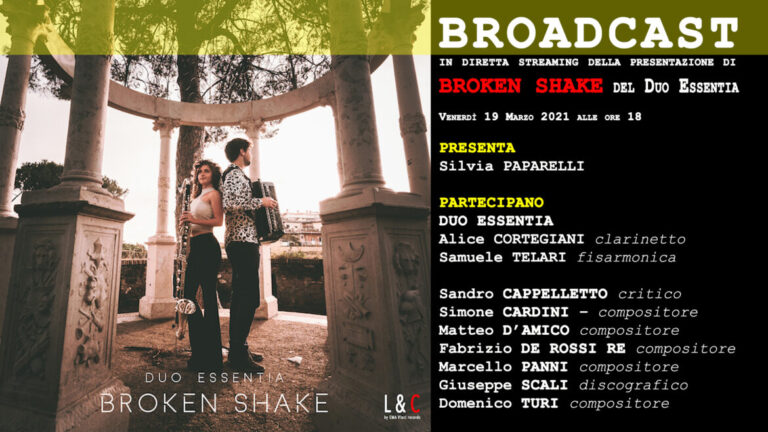 copertina presentazione cd brkoen shake samuele telari alice cortegiani ema vinci
